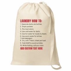 Custom College Laundry Bag