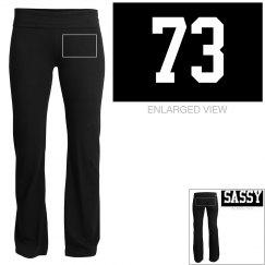 Sassy yoga pants