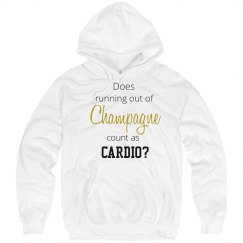 Champagne as cardio Sweater