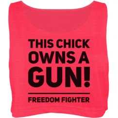This Chick Owns Guns Neon Tank
