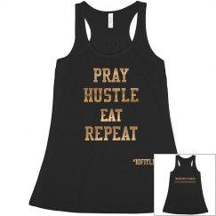 pray hustle crop top