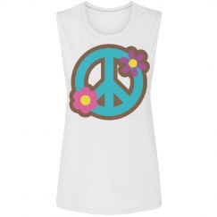 Floral Peace Sign Apparel