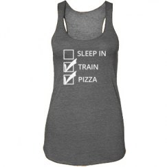 Sleep In, Train, Pizza