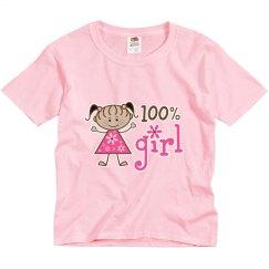 100% Girl Ethnic Stick Figure