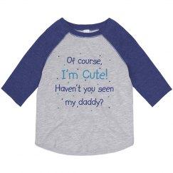 Cute Like Daddy Blue