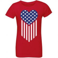 Patriotic American Flag Heart