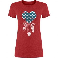 Patriotic Heart Dreamcatcher