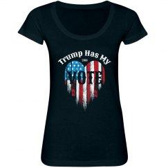 American Flag Heart Vote Trump