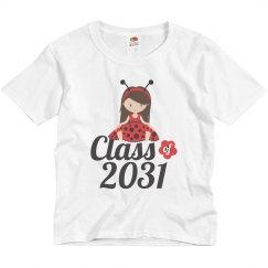 Class of 2031 Ladybug Girl