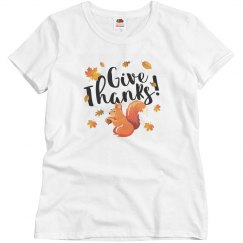 Thanksgiving Give Thanks Autumn Squirrel
