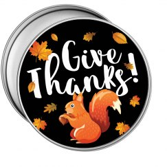 Thanksgiving Give Thanks Autumn Squirrel