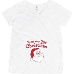 Retro Santa 1st Christmas Pregnancy Announcement