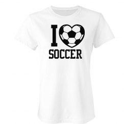 I Love Soccer T-Shirt