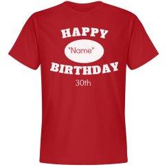 personal 30th birthday
