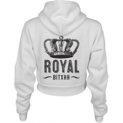 Royal Bitxh Crown Crop Hoodie