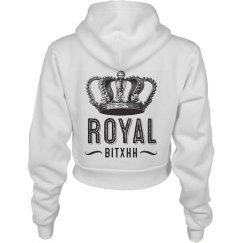 Royal Bitxh Crown Crop Hoodie