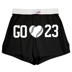 Cute and Fun Baseball Girlfriend Short Shorts