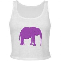 Purple Elephant Print