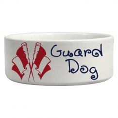 Whimsical Guard Dog (2 Wavy Flags)