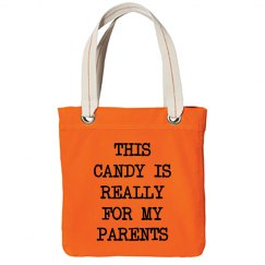 Funny Treat Or Treat Candy Bag