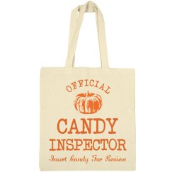 Funny Halloween Candy Inspector Bag