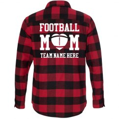 Cute Custom Plaid Football Mom