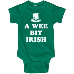 Wee Bit Irish Cute Baby Onesies