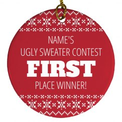 Ugly Sweater Trophy 1st Place