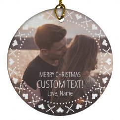 Custom Photo Relationship Xmas Gift
