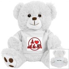 Love The 80's White Bear