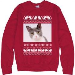 Custom Photo Cat Christmas Sweater