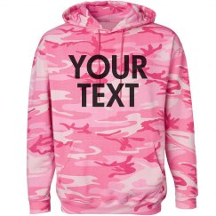Personalize a Camo Sweatshirt