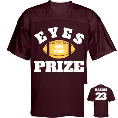 Eyes On The Prize Custom Football Dad Jersey