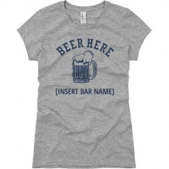 Beer Here Bar Graphic