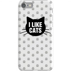 I Like Cats iPhone Case