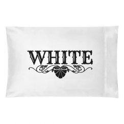 WHITE. Pillow case