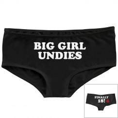 18th Birthday Big Girl Undies