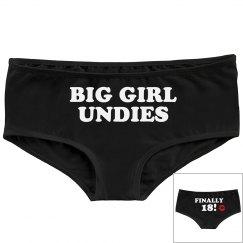 18th Birthday Big Girl Undies