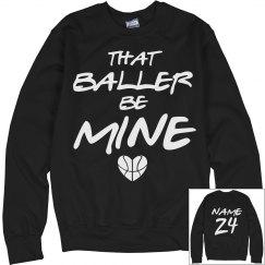 Baller's Basketball Girlfriend With Custom Back