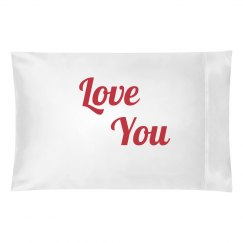 love you pillowcase