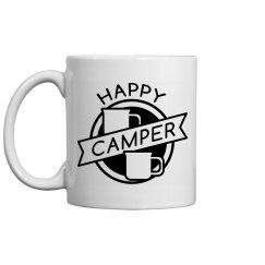 Happy Camper Badge Mug