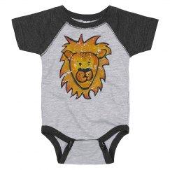Leo the Lion vintage distressed