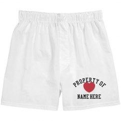 Property of Valentine shorts