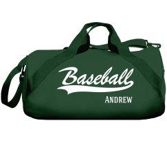 Andrew's Baseball bag