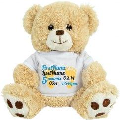 Birth announcement Teddy Bear