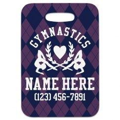 Custom Gymnastics Luggage Tag Gift