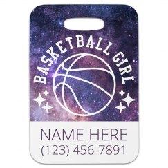 Custom Basketball Girl Luggage Tag