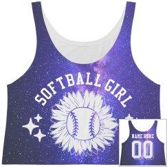 Softball Girl Space All Over Print