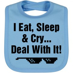 Deal With It! Bib