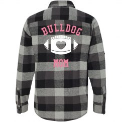 Bulldog Mom Flannel Shirt